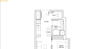 amber-park-condo-floor-plan-1-bedroom-plus-study-type-a1-singapore