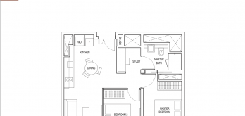amber-park-condo-floor-plan-2-bedroom-plus-study-type-b2-singapore