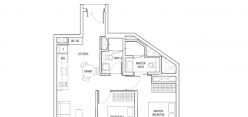 amber-park-condo-floor-plan-2-bedroom-type-b1-singapore