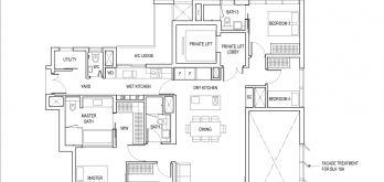 amber park condo floor plan 4 bedroom premium type d2