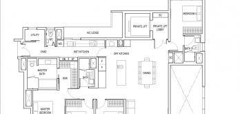 amber park condo floor plan 4 bedroom premium type d3