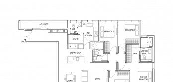 amber park condo floor plan 4 bedroom type d1