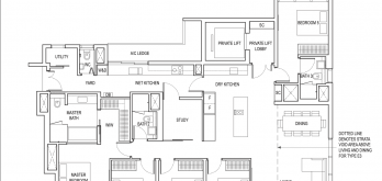 amber park condo floor plan 5 bedroom plus study type e3