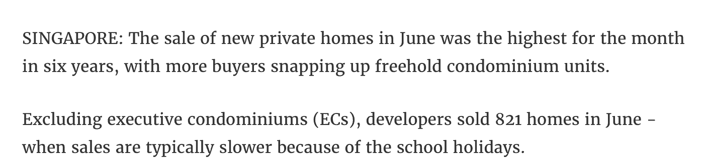 news - new private home highest june sale in 6 years - 1