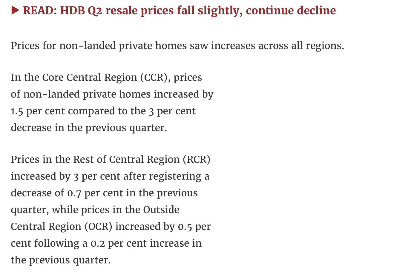 News - Singapore Private Home Prices Rise Unexpectedly - 3